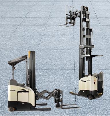 叉车案例:双伸位电动前移式叉车
