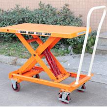 脚踏升降平台车_0.21-0.4吨重力升降平台车_武汉中明工业设备