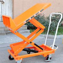脚踏升降平台车_0.15-0.8吨可倾斜脚踏升降平_武汉中明工业设备