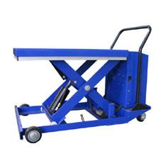 电动升降平台车_0.75吨低放型半电动升降平_武汉中明工业设备