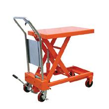 脚踏升降平台车_0.1-2吨经济型脚踏升降平台_武汉中明工业设备