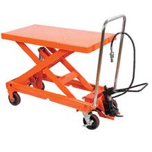 脚踏升降平台车_0.3-1吨气动升降平台车_武汉中明工业设备