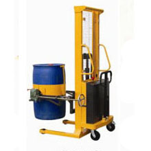 油桶搬运车_多功能半电动油桶车_武汉中明工业设备