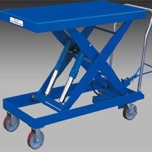 脚踏升降平台车_0.7吨超低放型脚踏升降平_武汉中明工业设备