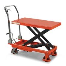 脚踏升降平台车_0.25-1吨重型脚踏升降平台_武汉中明工业设备