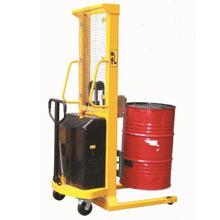 油桶搬运车_半电动油桶堆高车_武汉中明工业设备